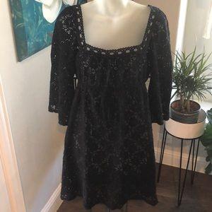 Laundry black crochet dress pattern